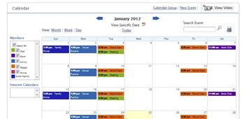 Online Family Calendar